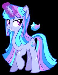 Size: 937x1200   Tagged: safe, artist:awoomarblesoda, oc, oc:supernova, pony, unicorn, female, magic, magical lesbian spawn, mare, offspring, parent:rainbow dash, parent:twilight sparkle, parents:twidash, simple background, solo, transparent background