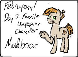 Size: 292x216 | Tagged: safe, artist:brightstarclick, mudbriar, earth pony, februpony, solo