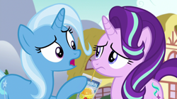Size: 1280x720 | Tagged: safe, edit, edited screencap, screencap, starlight glimmer, trixie, all bottled up, caprisun