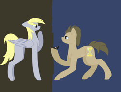 Size: 4632x3520 | Tagged: safe, artist:bublebee123, artist:cahansentoth, derpy hooves, doctor whooves, time turner, earth pony, pegasus, pony, base used, box, crying, cute, doctorderpy, female, heart eyes, hoof hold, male, mare, marriage proposal, raised hoof, ring, shipping, stallion, straight, tears of joy, wingding eyes