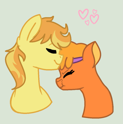 Size: 795x801 | Tagged: safe, artist:emberskydragon, braeburn, little strongheart, braeheart, female, male, shipping, straight