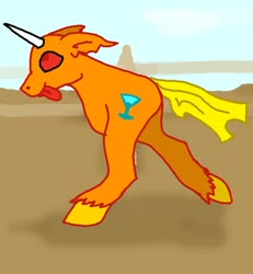 Size: 1041x1128   Tagged: safe, artist:torpy-ponius, oc, oc:drunk n ugly, animated gif, dumb running ponies, meme, ytmnd