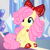 Size: 1200x1200 | Tagged: safe, artist:katya, artist:slb94, edit, editor:katya, fluttershy, pegasus, pony, alternate hairstyle, bow, cute, eyeshadow, female, hair bow, hearts and hooves day, holiday, hoof shoes, jewelry, makeup, mare, necklace, shyabetes, sitting, smiling, solo, valentine's day