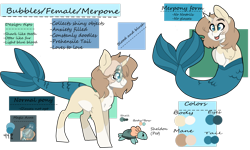 Size: 1280x768 | Tagged: safe, artist:bubble-trouble-owo, oc, oc only, oc:bubbles, merpony, pony, turtle, curved horn, female, fish tail, glasses, horn, mare, reference sheet, simple background, solo, transparent background