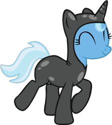 Size: 792x884 | Tagged: safe, artist:grapefruitface1, artist:twittershy, derpibooru exclusive, trixie, pony, unicorn, base used, catsuit, eyes closed, happy, simple background, solo, transparent background