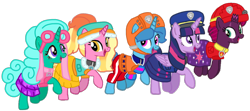 Size: 1406x622   Tagged: safe, artist:徐詩珮, fizzlepop berrytwist, glitter drops, luster dawn, spring rain, tempest shadow, twilight sparkle, alicorn, unicorn, series:sprglitemplight diary, series:sprglitemplight life jacket days, series:springshadowdrops diary, series:springshadowdrops life jacket days, alternate universe, bisexual, broken horn, clothes, cute, equestria girls outfit, female, glitterbetes, glitterlight, glittershadow, horn, jumping, lesbian, lifeguard, lifeguard spring rain, paw patrol, polyamory, running, shipping, simple background, sprglitemplight, springbetes, springdrops, springlight, springshadow, springshadowdrops, swimsuit, tempestbetes, tempestlight, transparent background, twilight sparkle (alicorn)