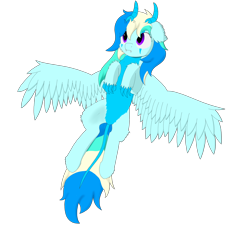 Size: 2000x1800 | Tagged: safe, artist:thekamko, derpibooru exclusive, oc, oc only, oc:arctic plasma, dracony, dragon, hybrid, pony, chest fluff, claws, fluffy, hoof fluff, horn, lying down, multicolored hair, simple background, solo, transparent background, wings