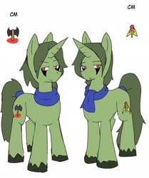 Size: 1715x2048 | Tagged: safe, artist:omegapony16, oc, oc only, oc:oriponi, pony, unicorn, clothes, duo, scarf, simple background, twins, unshorn fetlocks, white background