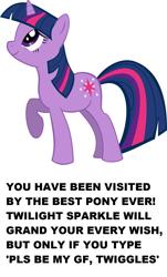 Size: 1040x1720 | Tagged: safe, artist:mac3030, edit, twilight sparkle, unicorn, misspelling, simple background, solo, text, unicorn twilight, white background