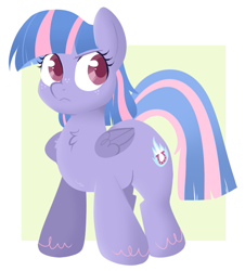 Size: 655x724 | Tagged: safe, artist:lulubell, wind sprint, pegasus, pony, female, filly, lineless, solo