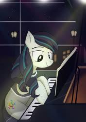 Size: 2480x3508 | Tagged: safe, artist:neoshrek, coloratura, pony, high res, musical instrument, piano, rara, solo