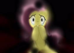Size: 3500x2500 | Tagged: safe, artist:mricantdraw, fluttershy, scared, solo