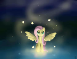 Size: 2500x1900 | Tagged: safe, artist:mricantdraw, fluttershy, butterfly, cute, looking at you, shyabetes, solo