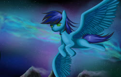 Size: 2500x1600 | Tagged: safe, artist:mricantdraw, oc, oc only, flying, sky, solo