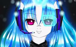 Size: 4000x2500 | Tagged: safe, artist:mricantdraw, dj pon-3, vinyl scratch, anime style, headphones, solo