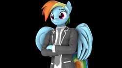 Size: 1920x1080 | Tagged: safe, artist:spinostud, rainbow dash, anthro, pegasus, 3d, clothes, source filmmaker, uniform