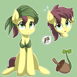 Size: 2721x2721   Tagged: safe, artist:yinglongfujun, oc, oc only, oc:acorn sprout, earth pony, colt, cutie mark, male, simple background, solo