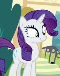 Size: 855x1079 | Tagged: safe, screencap, rarity, pony, unicorn, dragon dropped, spoiler:s09e19, cropped, cute, raribetes, smiling, solo