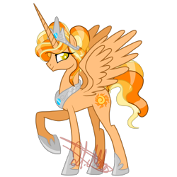 Size: 5000x5000 | Tagged: safe, artist:chelseawest, oc, oc only, oc:sunnyglow, alicorn, pony, absurd resolution, alicorn oc, female, mare, simple background, solo, transparent background