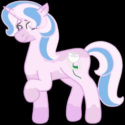 Size: 1112x1117 | Tagged: safe, artist:kindheart525, oc, oc only, oc:primrose, pony, unicorn, kindverse, offspring, parent:fancypants, parent:fleur-de-lis, parents:fancyfleur, pinto, simple background, solo, transparent background, vitiligo