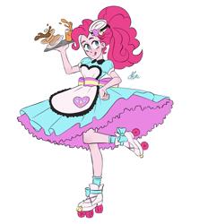 Size: 1175x1325 | Tagged: safe, artist:polymercorgi, pinkie pie, equestria girls, server pinkie pie, simple background, solo, white background
