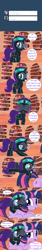 Size: 800x4800 | Tagged: safe, artist:niggerfaggot, twilight sparkle, oc, oc:nyx, alicorn, pony, unicorn, ask nyx now, book, cute, glasses, golden oaks library, headband, tumblr, tumblr comic