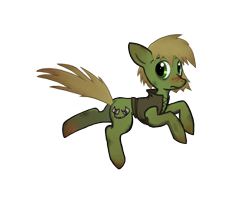 Size: 576x503 | Tagged: safe, artist:priorknight, oc, oc only, oc:murky, earth pony, pony, fallout equestria, fallout equestria: murky number seven, blushing, clothes, earth pony oc, fanfic art, male, simple background, solo, stallion, transparent background