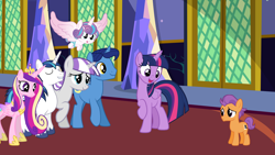 Size: 10000x5625 | Tagged: safe, artist:brerdaniel, night light, princess cadance, princess flurry heart, shining armor, tender taps, twilight sparkle, twilight velvet, alicorn, earth pony, pony, unicorn, colt, family, female, male, mare, shipping, stallion, straight, twilight sparkle (alicorn), twitaps