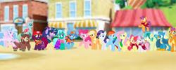 Size: 2340x933   Tagged: safe, artist:rainbow eevee edits, artist:徐詩珮, apple bloom, applejack, fizzlepop berrytwist, fluttershy, gallus, glitter drops, ocellus, pinkie pie, rainbow dash, rarity, sandbar, scootaloo, silverstream, smolder, spring rain, sweetie belle, tempest shadow, twilight sparkle, yona, alicorn, unicorn, series:sprglitemplight diary, series:sprglitemplight life jacket days, series:springshadowdrops diary, series:springshadowdrops life jacket days, alternate universe, bisexual, broken horn, clothes, cute, cutie mark crusaders, equestria girls outfit, female, glitterbetes, glitterlight, glittershadow, group, horn, lesbian, lifeguard, lifeguard spring rain, mane six, paw patrol, polyamory, shipping, sprglitemplight, springbetes, springdrops, springlight, springshadow, springshadowdrops, student six, tempestbetes, tempestlight, twilight sparkle (alicorn)