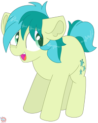 Size: 1574x1978   Tagged: safe, artist:rainbow eevee, sandbar, earth pony, pony, cute, cutie mark, green eyes, looking at something, male, open mouth, sandabetes, simple background, smiling, solo, teenager, transparent background, vector