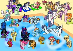Size: 1000x700 | Tagged: safe, artist:pinkprincesssophia, apple bloom, applejack, big macintosh, caramel, cheese sandwich, flash sentry, fluttershy, king sombra, pinkie pie, princess cadance, princess celestia, princess flurry heart, princess luna, rainbow dash, rarity, scootaloo, shining armor, soarin', spike, sweetie belle, thorax, twilight sparkle, oc, alicorn, changedling, changeling, changepony, dracony, dragon, earth pony, hybrid, pegasus, pony, unicorn, beach ball, carajack, cheesepie, couples, cutie mark crusaders, families, female, flashlight, fluttermac, fun, interspecies offspring, kicking, king thorax, lumbra, male, mane seven, mane six, offspring, parent:applejack, parent:big macintosh, parent:caramel, parent:cheese sandwich, parent:flash sentry, parent:fluttershy, parent:king sombra, parent:pinkie pie, parent:princess cadance, parent:princess celestia, parent:princess luna, parent:rainbow dash, parent:rarity, parent:shining armor, parent:soarin', parent:spike, parent:thorax, parent:twilight sparkle, parents:carajack, parents:cheesepie, parents:flashlight, parents:fluttermac, parents:lumbra, parents:shiningcadance, parents:soarindash, parents:sparity, parents:thoralestia, playing, pool party, shiningcadance, shipping, soarindash, sparity, straight, swimming, swimming pool, thoralestia, twilight sparkle (alicorn), winged spike