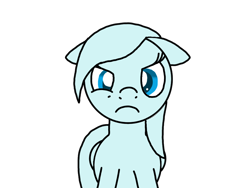 Size: 1024x768 | Tagged: safe, oc, oc only, oc:windy breeze, pegasus, pony, angry, flat mane, floppy ears, frown, not amused face, simple background, solo, transparent background, unamused
