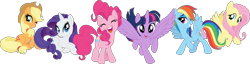 Size: 10002x2546 | Tagged: safe, artist:pink1ejack, applejack, fluttershy, pinkie pie, rainbow dash, rarity, twilight sparkle, alicorn, earth pony, pegasus, pony, unicorn, my little pony: the movie, absurd resolution, applejack's hat, clothes, cowboy hat, cute, dashabetes, eyes closed, eyeshadow, female, freckles, hat, jackabetes, looking at you, mane six, mare, one eye closed, open mouth, raised hoof, raribetes, shyabetes, simple background, sitting, smiling, spread wings, stock vector, three quarter view, transparent background, twiabetes, twilight sparkle (alicorn), vector, wings, wink