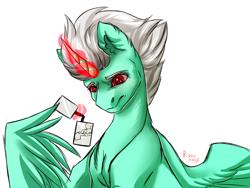 Size: 1024x768 | Tagged: safe, artist:rayrage, oc, oc:legend, alicorn, pony, broken, broken glass, broken glasses, glasses