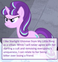 Size: 473x507 | Tagged: safe, edit, edited screencap, editor:useraccount, screencap, starlight glimmer, pony, unicorn, the cutie map, angry, confesssions, cropped, mlpconfessions, op is a duck, op is trying to start shit, tumblr