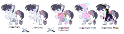 Size: 12608x3534 | Tagged: safe, artist:bublebee123, oc, oc only, oc:mako miso, pony, unicorn, bite mark, clothes, curved horn, ear piercing, earring, eye scar, female, gloves, hairpin, headband, hoodie, horn, jewelry, mare, markings, piercing, raised hoof, reference sheet, robe, scar, scarf, shirt, shorts, simple background, socks, solo, stockings, t-shirt, tail wrap, tattoo, thigh highs, transparent background