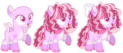 Size: 1280x560 | Tagged: safe, artist:luqella, oc, pegasus, pony, bald, bow, female, filly, hair bow, magical lesbian spawn, offspring, parent:rainbow dash, parent:twilight sparkle, parents:twidash, raised hoof, simple background, solo, transparent background