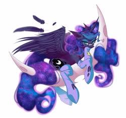 Size: 5000x4685   Tagged: safe, artist:jun1313, princess luna, alicorn, pony, butt, clothes, crescent moon, moon, moonbutt, praise the moon, simple background, socks, solo, stupid sexy princess luna, white background