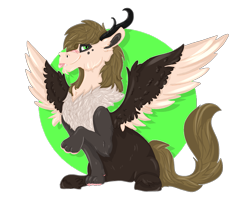 Size: 2500x2000 | Tagged: safe, artist:euspuche, oc, oc:capuccino, draconequus, draconequus oc, looking at you, male, offspring, parent:oc:jengibre, simple background, transparent background