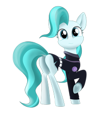 Size: 4000x4608 | Tagged: safe, artist:kaukanghong, derpibooru exclusive, lighthoof, earth pony, pony, butt, clothes, female, looking at you, looking back, looking back at you, mare, plot, raised hoof, simple background, solo, transparent background, white background