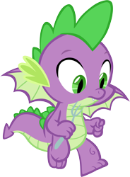 Size: 4090x5552 | Tagged: safe, artist:memnoch, spike, dragon, flying, fork, male, simple background, solo, transparent background, vector, winged spike