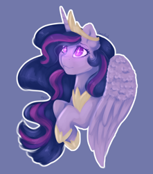 Size: 1500x1700   Tagged: safe, artist:fanaticpanda, twilight sparkle, alicorn, pony, the last problem, spoiler:s09e26, beautiful, bust, female, older, older twilight, princess twilight 2.0, purple background, simple background, solo, twilight sparkle (alicorn)