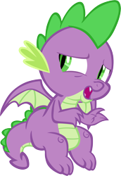Size: 4131x6001 | Tagged: safe, artist:memnoch, spike, dragon, claws, male, simple background, solo, transparent background, vector, winged spike