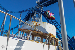 Size: 1440x962 | Tagged: safe, derpibooru exclusive, applejack, fluttershy, pinkie pie, rainbow dash, rarity, twilight sparkle, equestria girls, australia, equestria girls in real life, gold coast, humane five, humane six, irl, photo, roller coaster, sea world, ship, the ride never ends