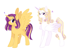 Size: 3264x2500 | Tagged: safe, artist:gigason, oc, oc only, alicorn, pony, female, high res, magical lesbian spawn, mare, offspring, parent:princess cadance, parent:sunset shimmer, parent:twilight sparkle, parents:sunsetsparkle, parents:twidance, simple background, white background