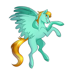 Size: 1280x1280 | Tagged: safe, artist:mickearts, lightning dust, pegasus, pony, female, hooves, mare, rearing, simple background, solo, transparent background
