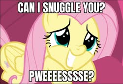 Size: 690x470 | Tagged: safe, edit, edited screencap, screencap, fluttershy, pegasus, pony, sweet and smoky, spoiler:s09e09, bronybait, caption, cute, daaaaaaaaaaaw, eye shimmer, faic, female, hnnng, image macro, mare, meme, prone, shyabetes, smiling, snuggles?, solo, text, weapons-grade cute