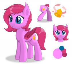 Size: 2645x2360 | Tagged: safe, artist:15.1.14, oc, oc only, oc:cheery bell, bat pony, pony, bat pony oc, bat wings, reference sheet, wings