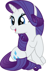 Size: 3000x4650 | Tagged: safe, artist:cloudyglow, rarity, pony, unicorn, to where and back again, .ai available, cute, female, high res, mare, raribetes, simple background, smiling, solo, transparent background, vector