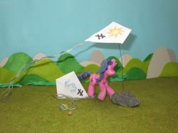 Size: 1032x774 | Tagged: safe, alternate version, artist:malte279, princess celestia, starlight glimmer, craft, inequality sign, kite, kite flying, kites, sculpture, starch foam
